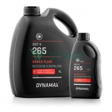 Stabdžių skystis DYNAMAX 265 DOT4 4