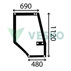 Durų Stiklas d.p. 1330930C2 Case IH