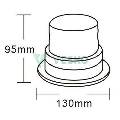 LED Švyturėlis Magnetinis 40SMD, 9-30V, R10, R65 2
