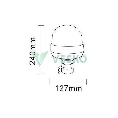 LED Švyturėlis 48W, 9-30V, R10, R65, 16 LED x 3W 2