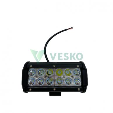 LED Žibintas 36W, 10-30V, 12 CREE LED x 3W